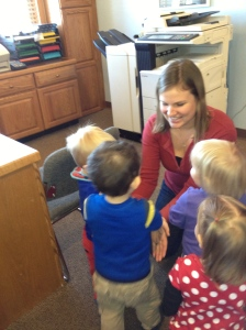 My sweet toddler babies singing me happy birthday upon my return to work Tuesday