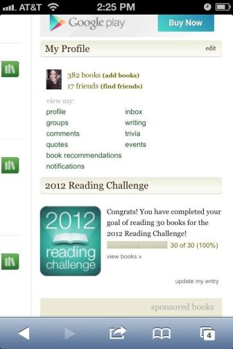 One of my goals for 2012 accomplished...and then some!