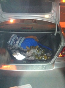 Why do I have a trunk full of ice and pickles? The world may never know. See #4.