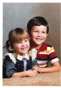 My brother and I, back before he was super old.