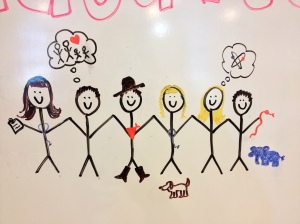My Kindergarteners told me what they wanted to be when they grew up... here is my artist's rendition :)