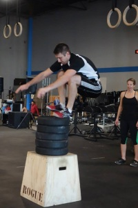 Doing max height box jumps