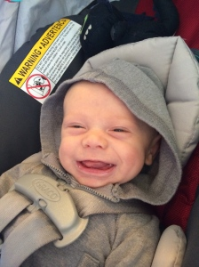 This grin occurred during a conversation about how much we love Daddy
