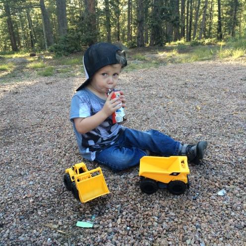 Tractors, rocks and chocolate milk